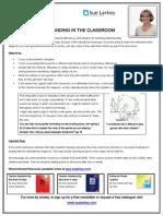 tip sheet promoting understanding in the classroom