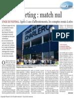 Le Soir - Ville Sporting - Match Nul - 26.10.13