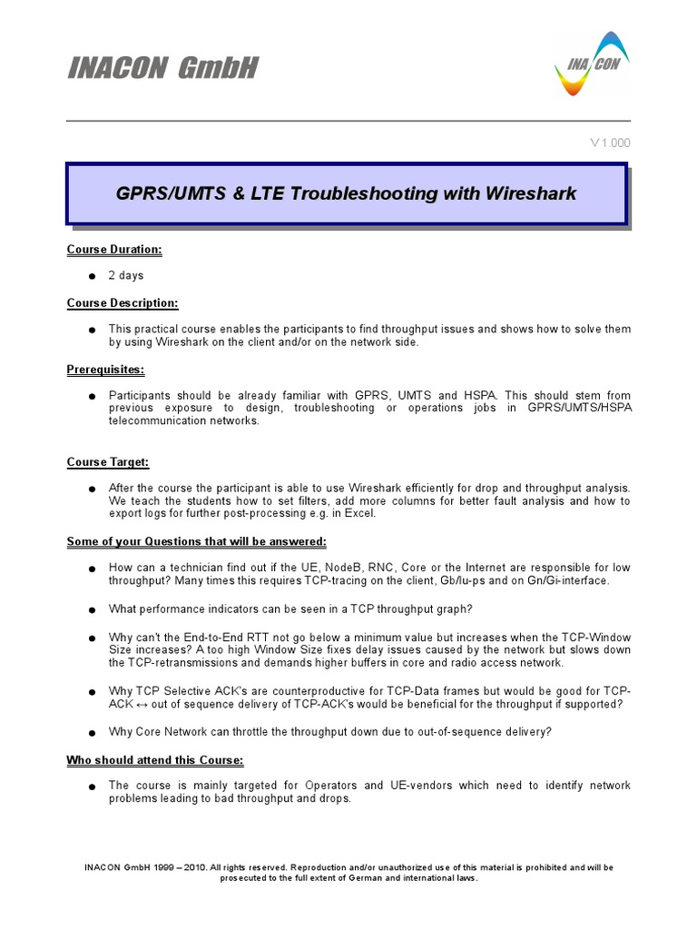 GPRS-UMTS&LTE Troubleshooting using Wireshark TOC_1 0 pdf
