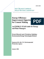Cement Energy Guide