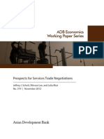 Prospects for Services Trade Negotiations