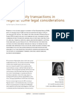 Private Equity Transactions in Nigeria