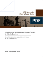 Developing the Service Sector as Engine of Growth for Asia