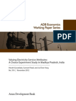 Valuing Electricity Service Attributes
