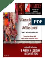 Acuerdo Nacional y Politica Social