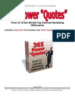 365 Power Quotes