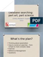 Database Searching - tips for researchers
