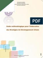 Guide méthodologique pour l'élaboration  des strategies de developpement urbain