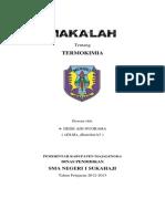 makalah Termokimia