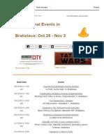 International Events Bratislava October 28 - November 3