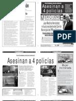 Versión impresa del periódico El mexiquense  28 octubre 2013