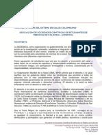 Crisis Sistema de Salud Colombiano 27-10-2013