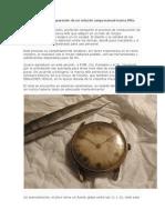 Restauración y reparación de un reloj de carga manual marca Alf1