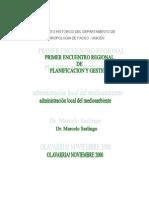 MARCELO SARLINGO proy. administración local del medioambiente en Olavarría