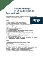 Cuestionario para trabajar REBELIÓN EN LA GRANJA de George Orwell