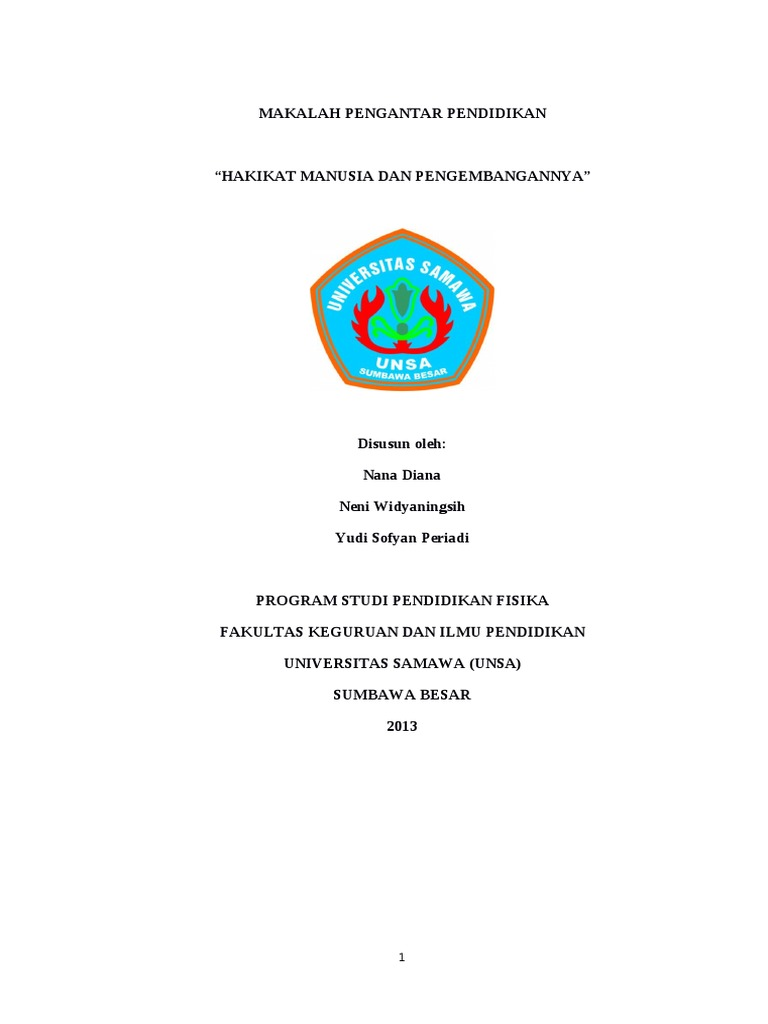 Pengantar Pendidikan Pdf