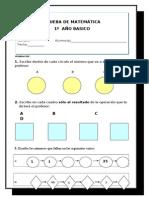 prueba matematica primero básico
