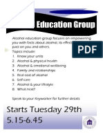 Alcohol Education Poster