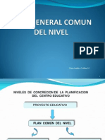 Plan General Comun Del Nivel y Grupal