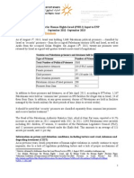PHR-Israel's ENP country progress report on Israel (September 2012 –September 2013) on Palestinian Prisoners and Detainees.