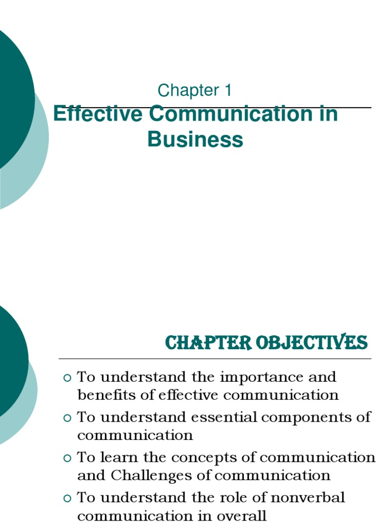 01 Effective Communication in Business pdf | Nonverbal