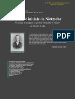 Nietzsche's Initial Crisis