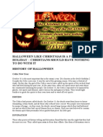 HALLOWEEN LIKE CHRISTMAS IS A PAGAN HOLIDAY – CHRISTIANS SHOULD HAVE NOTHING TO DO WITH IT