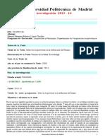 Informe Anual Modelo 2013-14