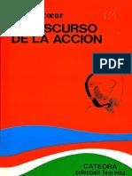 El discurso de la acción - Paul Ricoeur