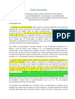 Carta EncíclicaECCLESIA DE EUCHARISTIA