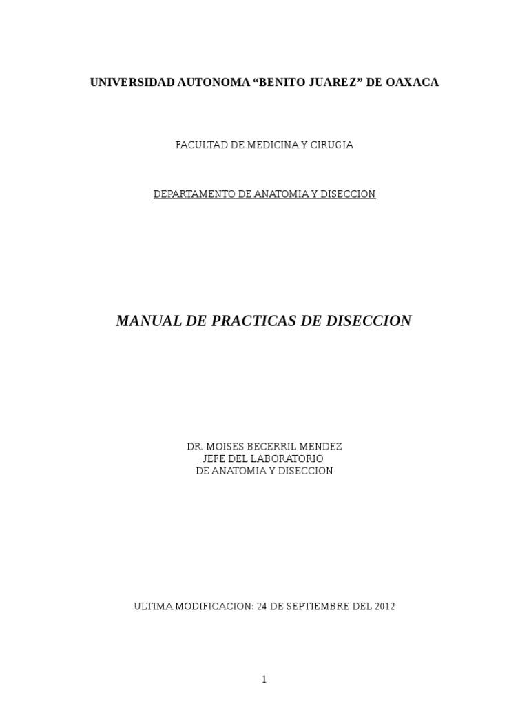 Manual de Practicas de Diseccion