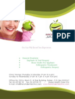 French Dental Clinic Flyer