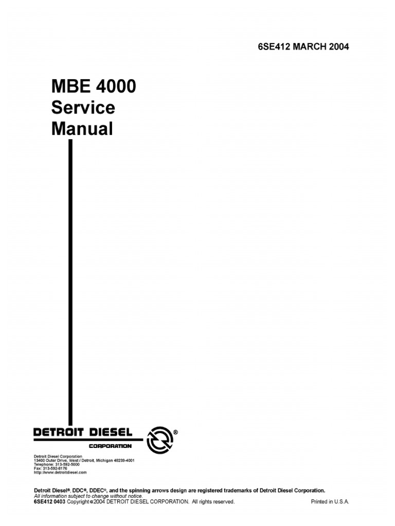 Mercedes Mbe 4000 Wiring Diagram - Wiring Library •