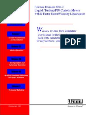 Omni 6600   Input/Output   Flow Measurement