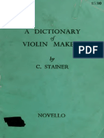 A Dictionary of Violin Makers