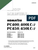 Komatsu Shop Manual PC400 PC450
