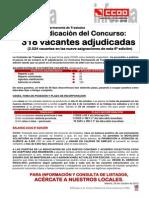 1717907-Novena Adjudicacion Del Concurso Permanente de Traslados - 318 Vacantes Adjudicadas