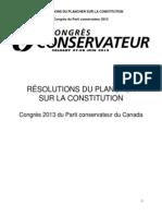 Résolutions sur la constitution - Congrès conservateur