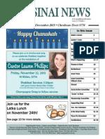 Sinai Newsletter--Nov and Dec 2013