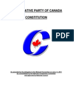 Conservative Party of Canada - Constitution