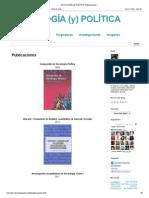 SOCIOLOGÍA (y) POLÍTICA_ Publicaciones