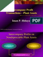 Intercompany Profit Plant Asset