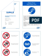 Mobile Phone road safety card