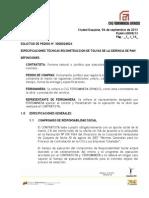 Plmh-i-0098-13 Especificaciones Tecnicas Reconstruccion de Tolvas de La Gerencia Pmh