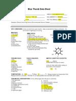 blue thumb data sheet september 13 2013
