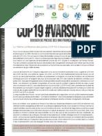 Dossier de presse COP 19