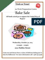 UW Fundraiser Bake Sale 2013 Poster