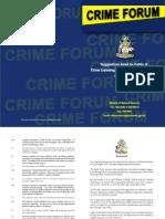 Crime Forum Recommendations