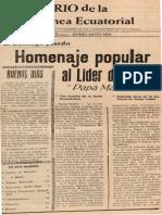 Moto Nsa, 'New Ville, Alias Campo Yaounde.', Diario de la Guinea Ecuatorial (Santa Isabel, 5 December 1972)