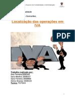 Localização das operações em IVA_Trabalho